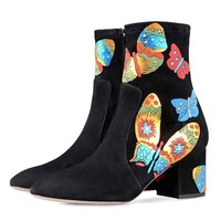Limited Edition Butterfly Chelsea Boots