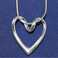Solid Silver Heart Necklace