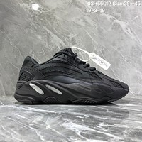 HCXX A932 Adidas Yeezy Boost 700 3M Reflective Retro Running Shoes Black