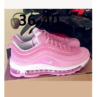 Tagre™ NIKE AIR MAX 97 Fashion Running Sneakers Sport Shoes pink H Z