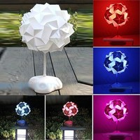 Creative 3-LED 8 Modes Origami Paper Folding Lamp Desktop Energy-saving Lamp DIY Table Light Lamp with Colorful Lights from UltraBarato Gadgets