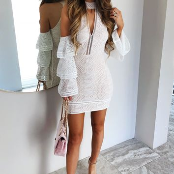 Show Your Love Dress: White