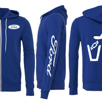 Ford Trashing Chevy Zipper Hoodie