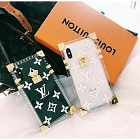 LV Louis Vuitton iPhone Case iPhone 6 6s 6plus 6s-plus 7 7plus 8 8plus X Transparent Phone Case F/A