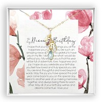 Copy of Niece Birthday  Birthstone Letter Necklace