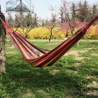 1.85 x 0.8m 150kg Weight Load Canvas Hammock Casual Strip Beach Swing Bed for Outdoor Camping Travel