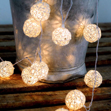 beautiful outdoor lantern string light rattan white color hanging light night decor party wedding bedroom furniture rustic wood
