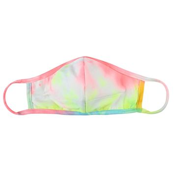 Yellow Coral Blue Tie Dye Face Mask - Covid 19