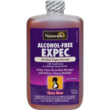 Naturade Alcohol-free Herbal Expectorant - Natural Cherry Flavor - 8.8 Oz