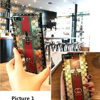 GUCCI Fashion electroplating iPhone Phone Cover Case For iphone 8 8plus iPhone6 6s 6pl