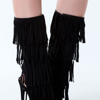 Fringe Party Stiletto Heels- FINAL SALE