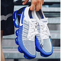 Nike Air Vapormax Flyknit 2 Sports Running Shoes Women Men Sneaker Blue White
