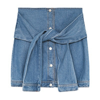 DENIM SHIRT SKIRT