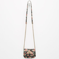 Floral Mini Crossbody Bag Black Combo One Size For Women 25141714901