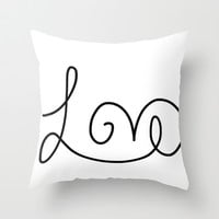 Love Throw Pillow by dani