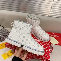 LV Fashion casual flat bottomed snow boots