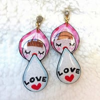 FUNNY KID WOMEN EARRING LOVE QOUTE