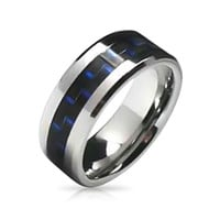 Bling Jewelry Woven Cobalt Band