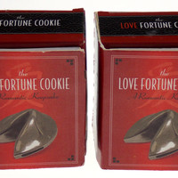 Lot of 2 Love Fortune Cookie Containers Romantic Keepsake Book Easter Gift