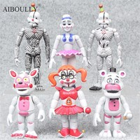 2017 Hot sale 6pcs/set  Action toy cartoon Figures toys  At  bonnie freddy game toys kids gift
