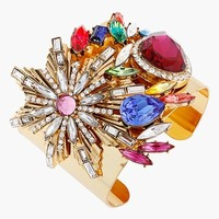 Erickson Beamon Rocks 'Tropical Punch' Wide Cluster Cuff