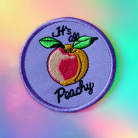 Its All Peachy! Embroidered Iron-On Patch - Patch Game Girlfriend Gift, Boyfriend Gift