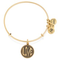 Open Love Charm Bangle
