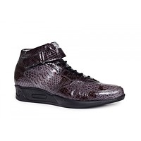 Mauri - M764 Patent Leather Charcoal Sneakers
