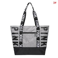 Victoria Pink Fashion New More Letter Print handbag Shoulder Bag Women 3#