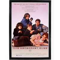 John Huges The Breakfast Club Movie Poster Molly Ringwald Wall Art Print