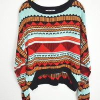 Colorful totem sweater
