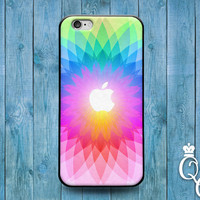 iPhone 4 4s 5 5s 5c 6 6s plus iPod Touch 4th 5th 6th Gen Cover Cute Apple Rainbow Colorful Case Cool Bright Custom Gift Girly Rubber Pretty