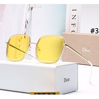 DIOR 2019 new women's square large frame color film polarized sunglasses #3