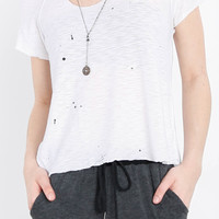 Encinal Paint Splatter Distressed Top