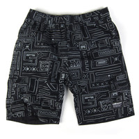 The Hundreds: Otis Reversible Boardshorts - Black Geo