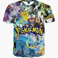 go 3D t-shirt big boys and girls unisex Clothing kid's summer fashion t-shirts tees topsKawaii Pokemon go  AT_89_9