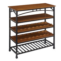 Home Styles Furniture 5050-66 Modern Craftsman Distressed Oak Wine Rack