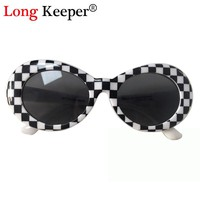 Long Keeper Brand Women's NIRVANA Kurt Cobain Sunglasses Oval Men Most Popular Sun Glasses High Quality Eyewears oculos WXR04