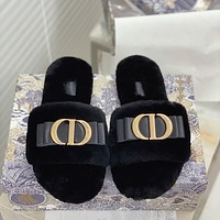 Dior suede women's CD letter slippers shoes