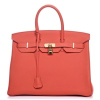 Hermes Birkin Togo Leather 35cm Orange Bag
