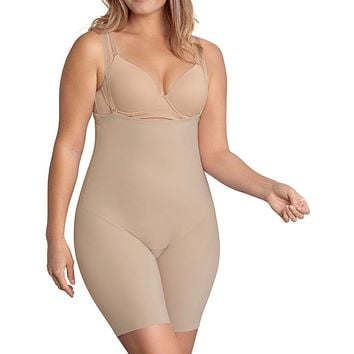 Strapless Mid Thigh Body Shaper with Moderate Compression