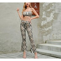 Snakeskin Two-Piece Jumpsuit