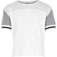 River Island Girls white color block sporty top