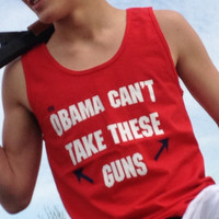 Obama Can't Take These Guns Tank Tops ( Red )