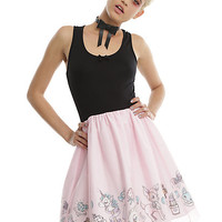 Black & Pink Tulle Party Dress