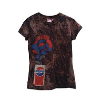 SALE Retro Pepsi Cola TShirt Pop Top Womens Acid Washed Pepsi Spirits Graphic Tee Soda Gift For Her Women's Clothing Gym Shirt Casual Top
