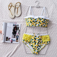 hot pineapple two piece yellow bikinis bathsuit