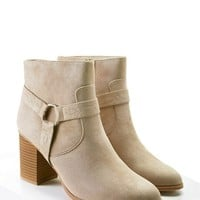 Embroidered Faux Suede Boots