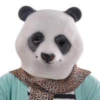 Halloween Costume Prop Adult Latex Party Masks Panda Head Natural Silicone Rubber Cosplay Fancy Dress Animal Face Mask