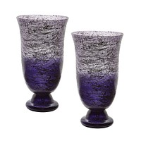 Plum Ombre Flared Vases (Set of 2)